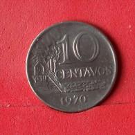 BRAZIL 10 CENTAVOS 1970 -    KM# 578,2 - (Nº13881) - Brésil