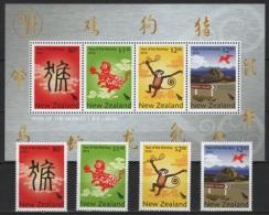 New Zealand (2016) - Set + Block -  /  Monkey - Chinese New Year - Chinees Nieuwjaar