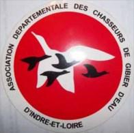 Autocollant Chasse Gibier D'eau ADCGE D'Indre Et Loire - Stickers