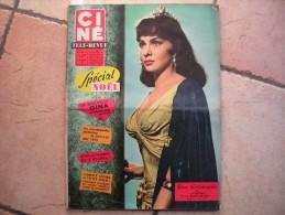 CINE REVUE N° 49  ( DECEMBRE -1959 ) GINA LOLLOBRIGIDA - GEORGES BRASSENS - Dos: MARTINE CAROL - Cinéma