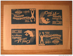 HUNGARY Budapest 1937 Imperforated 4 Poster Stamp Label Vignette Viñeta - Hongrie