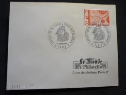 Exposition De Timbres Poste Néerlandais 12/03/1966 Paris - Marcophilie (Lettres)