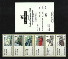 GB 2016 STAMPEX SPRING A009 R M HERITAGE COLLECTORS STRIP POST & GO ATM MNH - Great Britain
