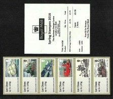 GB 2016 STAMPEX SPRING A009 R M HERITAGE 1ST CLASS STRIP POST & GO ATM MNH - Great Britain
