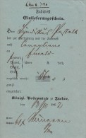 Fahrpost Einlieferungsschein Itzehoe 3.10.1862 - Schleswig-Holstein