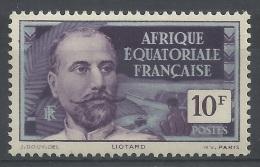 French Equatorial Africa (AEF), Victor Liotard, French Explorer, 10f., 1937, MLH VF - Ungebraucht