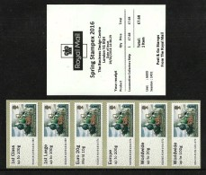 GB 2016 STAMPEX SPRING A009 LOCOMOTIVE TRAIN COLLECTORS STRIP POST & GO ATM MNH - Great Britain