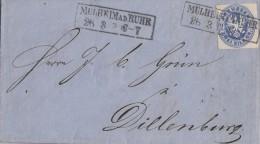 Preussen Brief EF Minr.17 R2 Mülheim A.d. Ruhr 26.3. Bergbau Rechnung Ansehen !!!! - Preussen