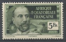French Equatorial Africa (AEF), Victor Liotard, French Explorer, 5f., 1937, MH VF - A.E.F. (1936-1958)