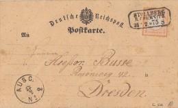 DR Karte EF Minr.18 Stollberg R. Chemnitz 21.2.75 Gel. Nach Dresden - Deutschland