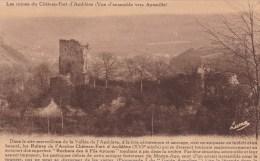 AYWAILLE > Les Ruines Du Château-Fort D'Amblève - Vue D'ensemble Vers Aywaille - Aywaille