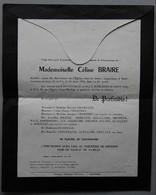 FAIRE-PART DECES Pontoise (VAL D'OISE) 1956 - Esquela