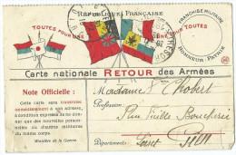 Carte 7 Drapeaux En Franchise - 30 Novembre 1916 - Guerre De 1914-18