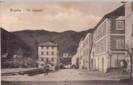 MASONE-GENOVA-VIA SARACCO-VIAGGIATA IL 25 AGO 1909 X RONCO SCRIVIA-OTTIMA CONSERVAZIONE-2 SCAN. - Genova (Genoa)