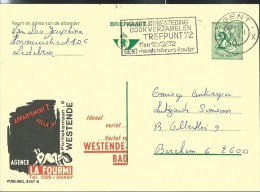 Publibel Obl. N° 2457 ( Agence LA FOURMI; Westende-Bad) Obl: Gent 1972 - Publibels