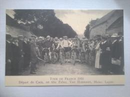 Tour De France 1910 GDépart De Caen En Tête Faber Van Houwaert Blaise Lapize Reproduction - Cycling
