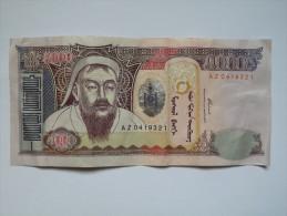 BILLET MONGOLIE - IDEM P.60 - 2003 - 5000 TUGRIK - GENGIS KHAN - TEMPLE - PALAIS - FONTAINE DE VIE - Mongolia