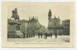 TORINO PIAZZA S. CARLO E MONUMENTO AD E.FILIBERTO NV FP - Places & Squares