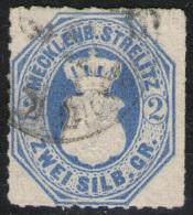 Woldegk 11/9 Auf 2 Sgr. Ultramarin - Strelitz Nr. 5 - Tief Geprüft - Mecklenburg-Strelitz