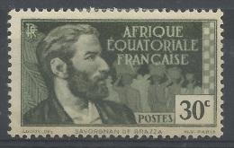French Equatorial Africa (AEF), Pierre Savorgnan De Brazza, French Explorer, 30c, 1937, MH VF - A.E.F. (1936-1958)