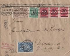 DR Brief Mif Minr.28x 209,253,254,6x 268,278,3x 282 Leipzig 2.9.23 - Deutschland