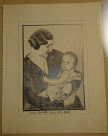 Dessin Au Crayon 1951-illustrateur-La Reine ASTRID   (1) - Dessins
