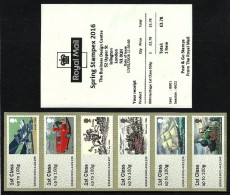 GB 2016 STAMPEX SPRING B001 R M HERITAGE 1ST CLASS STRIP POST & GO ATM MNH - Great Britain