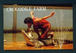 THAILAND  -  Samut Prakam  Crocodile Farm  Unused Postcard - Thailand