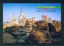THAILAND  -  Ayutthaya  Unused Postcard - Thailand