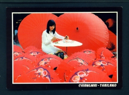 THAILAND  -  Chiang Mai  Making Umbrellas  Unused Postcard - Thailand