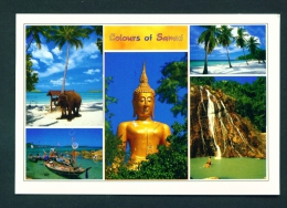THAILAND  -  Samui  Dual View  Unused Postcard - Thailand