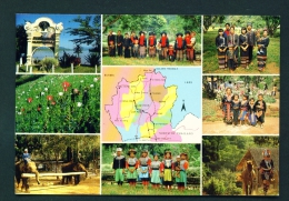 THAILAND  -  Hilltribes  Map And Multi View  Unused Postcard - Thailand