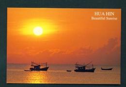 THAILAND  -  Hua Hin  Sunset  Unused Postcard - Thailand