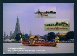 THAILAND  -  Bangkok  Golden Jubilee Royal Barge Procession  Unused Postcard - Thailand