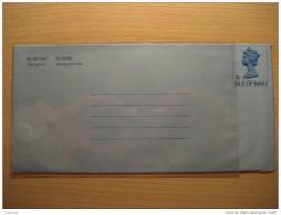 7p Queen EII Aerograma Aerogramme Air Letter By Air Mail Isle Of MAN British Area GB UK - Isle Of Man
