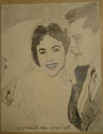 Dessin Au Crayon 1951 - Elisabeth HILTON   ( 1) - Dessins