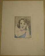Dessin Au Crayon 1951 - Mala Powers Est Une Actrice Américaine, Née Mary Ellen Powers à San Francisco   ( 1) - Dessins