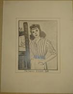Dessin Au Crayon 1951 - Ida Lupino Est Une Actrice, Scénariste, Productrice Et Réalisatrice Américaine  ( 1) - Dessins