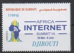 Djibouti Dschibuti 2014 ** Neuf Africa Internet Summit Sommet MNH RARE - Dschibuti (1977-...)