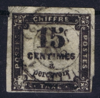 France:  Taxe Yv Nr  4 Gestempelt/used/obl.  Damaged - 1859-1955 Usati