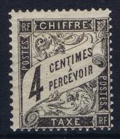 France:  Taxe Yv Nr  13 MH/* Falz/ Charniere - 1859-1955 Postfris
