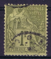 France Colonies Yv Nr 59  Gestempelt/used/obl. Signed/ Signé/signiert - Sage