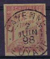 France Colonies Yv Nr 25 Taxe   Gestempelt/used/obl. Cachet A Date De Cayenne - Oblitérés