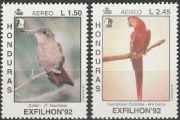 """HONDURAS 1161-2 """"Nationale Briefmarkenausstellung EXFILHON'92 Tegucigalpa"""" MNH / ** / Postfrisch - Honduras"""