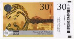 TURQUIE,TURKEI TURKEY HAGIA SOPHIA MUSEUM TICKET USED - Tickets - Vouchers