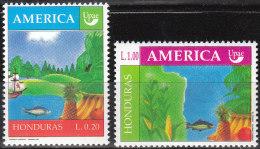 """HONDURAS 1092-3 """"Amerika:Die Natur Zur Zeit Der Entdeckung"""" MNH / ** / Postfrisch - Honduras"""