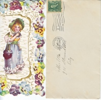 VICTORIAN  ERA  1909 VALENTINE With Cover. U.S. - Valentine's Day