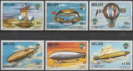 """BELIZE 702-7 """"200 Jahre Luftfahrt"""" MNH / ** / Postfrisch - Belize (1973-...)"""