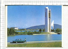 CANBERRA - ACT  -    The  Carillon  On The  Shores  Of  Lake Burley Griffin  - Wth  The  Library  - Water Jet - Véhicule - Canberra (ACT)