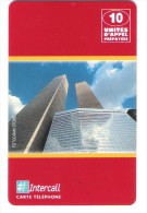 Intercall - Prepaid Card - Twin Towers - 10 Unites - Exp. Date : 31/10/1998 - Frankreich